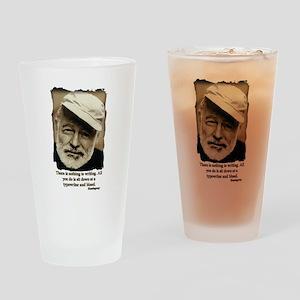 Hemingway3-Bleed Drinking Glass