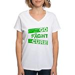 Kidney Disease Go Fight Cure Women's V-Neck T-Shir