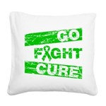 Kidney Disease Go Fight Cure Square Canvas Pillow
