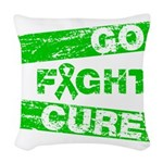 Kidney Disease Go Fight Cure Woven Throw Pillow