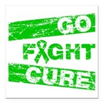 Kidney Disease Go Fight Cure Square Car Magnet 3
