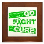 Kidney Disease Go Fight Cure Framed Tile