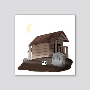 "Haunted House Square Sticker 3"" x 3"""