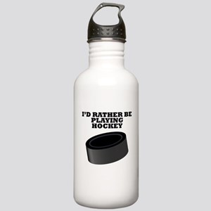 Id Rather Be Playing Hockey Water Bottle