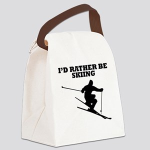 Id Rather Be Skiing Canvas Lunch Bag