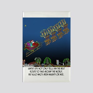 Santa's GPS Rectangle Magnet
