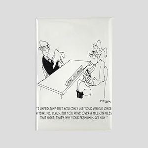Santa's Sled Insurance Rectangle Magnet