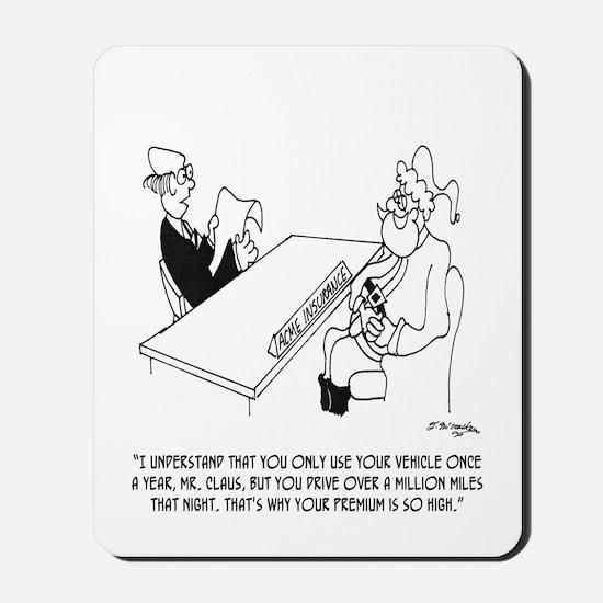 Santa's Sled Insurance Mousepad
