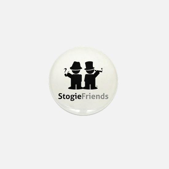 Stogie Friends Black Mini Button