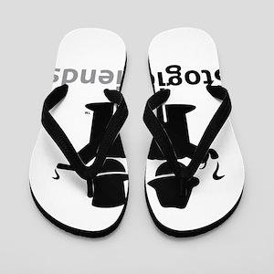 284287e6f490 Stogie Friends Black Flip Flops