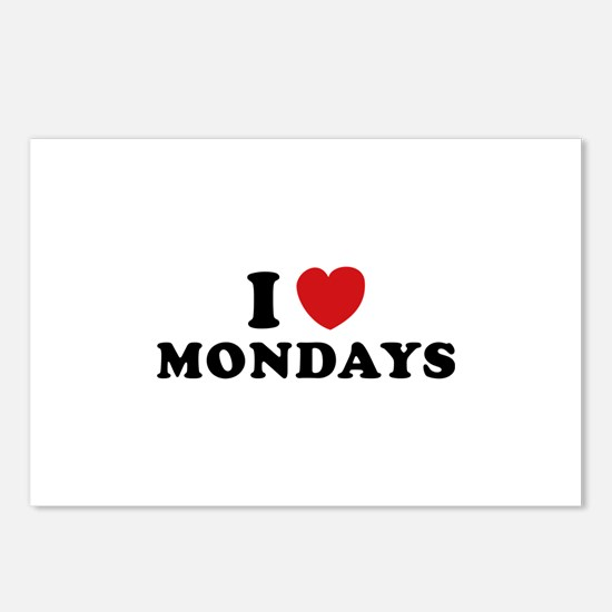 I Love Mondays Postcards (Package of 8)
