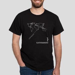 Kathmandu Geocode map T-Shirt