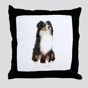 Australian Shep (tri) #2 Throw Pillow