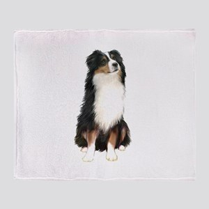 Australian Shep (tri) #2 Throw Blanket