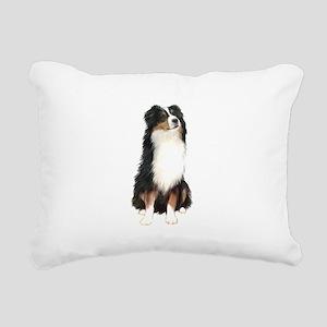 Australian Shep (tri) #2 Rectangular Canvas Pillow