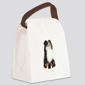 Australian Shep (tri) #2 Canvas Lunch Bag