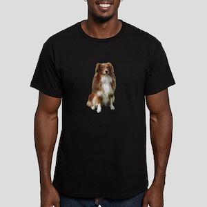 Australian Shep (tri) #2 Men's Fitted T-Shirt (dar