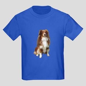 Australian Shep (tri) #2 Kids Dark T-Shirt
