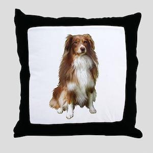 Australian Shep (tri) #2 Throw Pillow