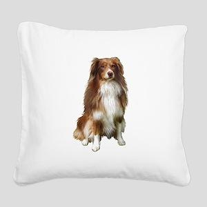 Australian Shep (tri) #2 Square Canvas Pillow
