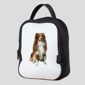 Australian Shep (tri) #2 Neoprene Lunch Bag