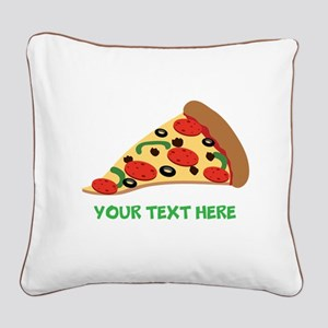 Pizza Lover Personalized Square Canvas Pillow