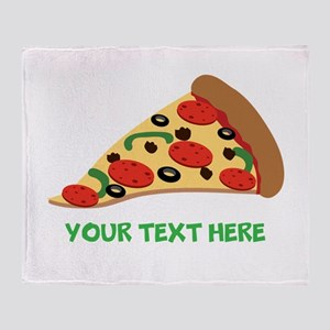Pizza Lover Personalized Throw Blanket