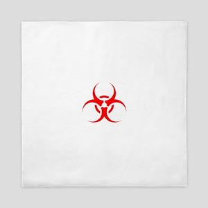 Red Biohazard Symbol Queen Duvet