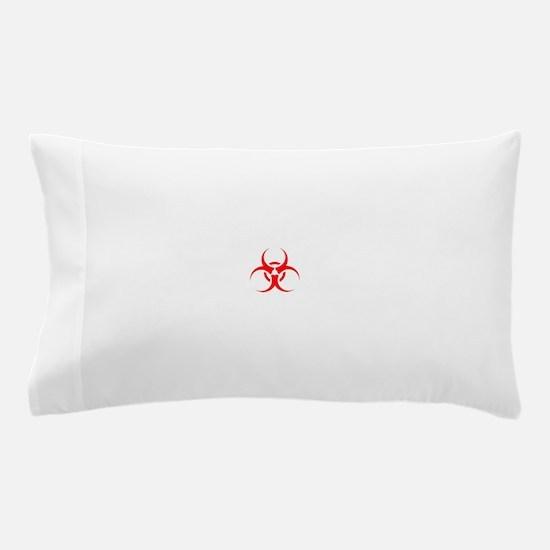Red Biohazard Symbol Pillow Case