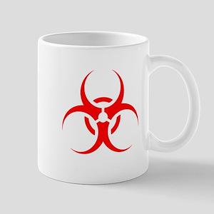 Red Biohazard Symbol Mugs