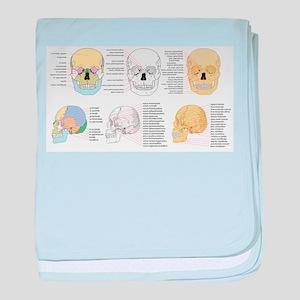 doctor skull baby blanket