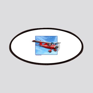 Single Engine Red Airplane Patches