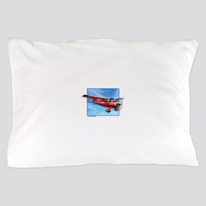 Single Engine Red Airplane Pillow Case