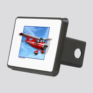 Single Engine Red Airplane Rectangular Hitch Cover