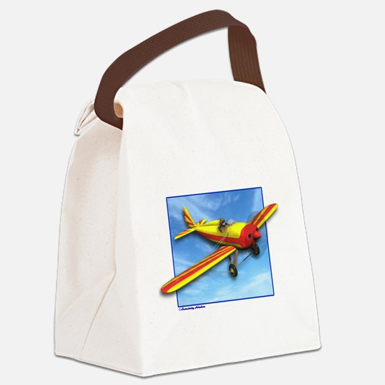 Red and Yellow Small Plane Canvas Lunch Bag