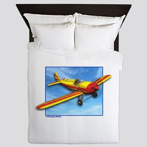 Red and Yellow Small Plane Queen Duvet