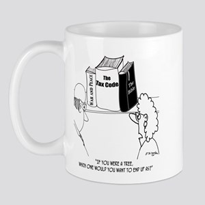 Pity the Tree That Becomes the Tax Code Mug