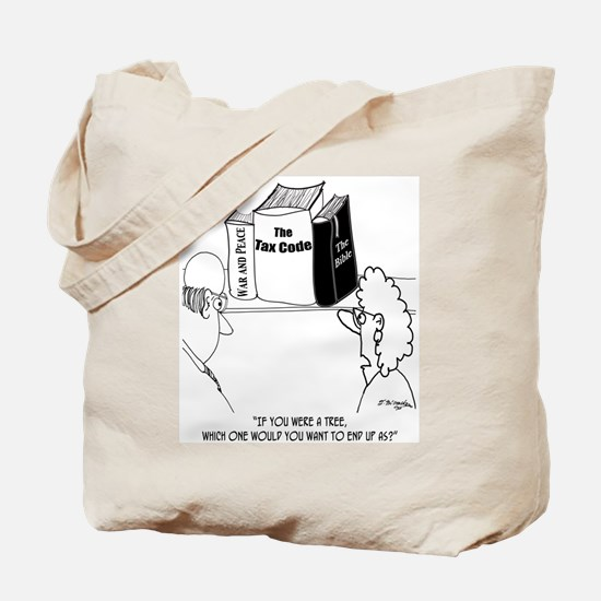 Pity the Tree That Becomes the Tax Code Tote Bag
