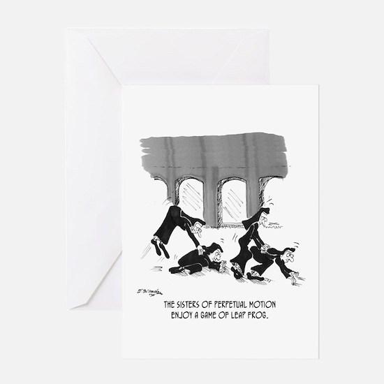 Sisters of Perpetual Motion Greeting Card