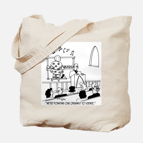 Donating Organist to Science Tote Bag