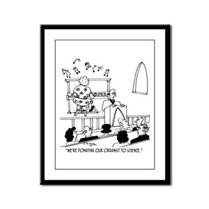 Donating Organist to Science Framed Panel Print