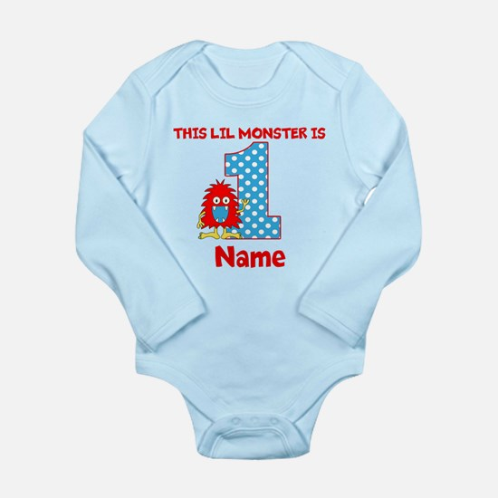1st Birthday Monster Red Body Suit