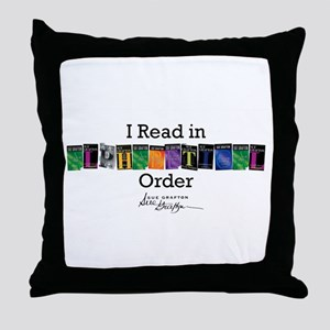 I Read in Alphabetical Order Throw Pillow