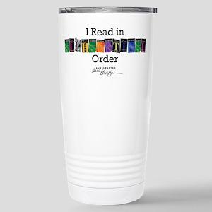 I Read in Alphabetical Order Travel Mug