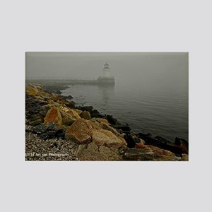 Lighthouse and Fog Rectangle Magnet