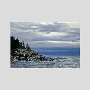 Maine Coast Rectangle Magnet