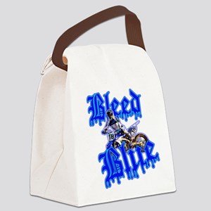 Bleed Blue 3 Canvas Lunch Bag