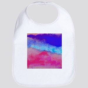 Sunset watercolor Bib