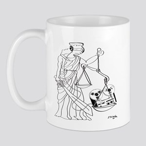 Lady Justice, Blind, but not Deaf Mug
