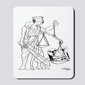 Lady Justice, Blind, but not Deaf Mousepad
